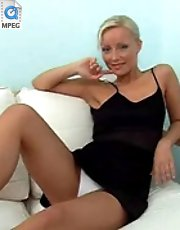 4 movies - Her awesome black clothe supplies white panties